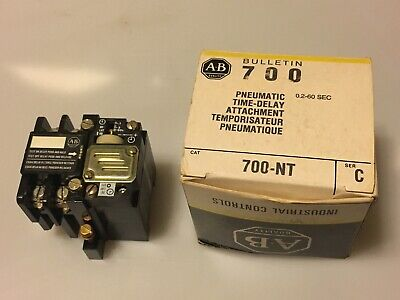 Allen-Bradley 700-NT *Chipped Corner* Pneumatic Timing Relay Unit Ser C