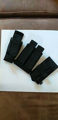 5.11 TACTICAL BACK UP BELT SYSTEM POUCHES, BATON,TORCH, DOUBLE MAGs. X3 POLICE