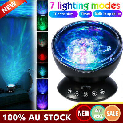 Ocean Wave Music LED Night Light Projector Remote Lamp Projector AU
