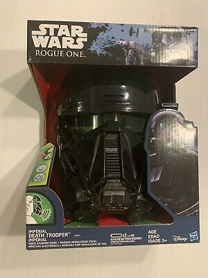 Death Trooper mask from Rogue One Star Wars imperial Hasbro helmet voice changer