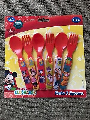 Disney Mickey Mouse Clubhouse Fork Spoon (Error Missing Mickey, Extra Donald)