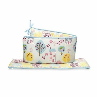 New TRUE BABY Reversible Crib Bumper ~ SWEET TWEET Floral