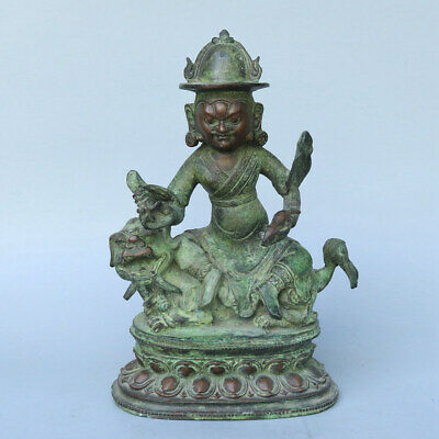 Chinese Exquisite Handmade Luohan beast copper statue