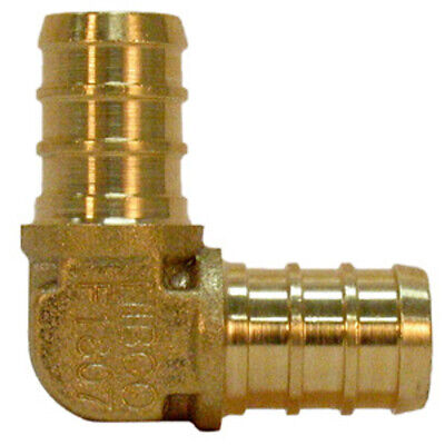 SharkBite  3/4 in. Barb   x 3/4 in. Dia. Barb  Brass  PEX Elbow