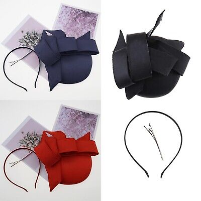 3 Different Colors Stylish Graceful Artistic Fascinator Hat Headband Hair Clip