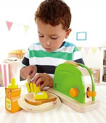 Hape Pop Up Toaster Wooden Play Kitchen Set with Accessories, New