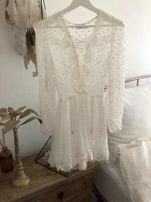 zimmermann Silk And Lace Dot Playsuit
