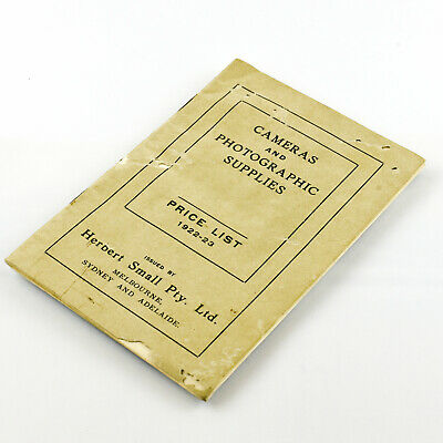 Cameras and Photographic Supplies Price List 1922-23 Herbert Small