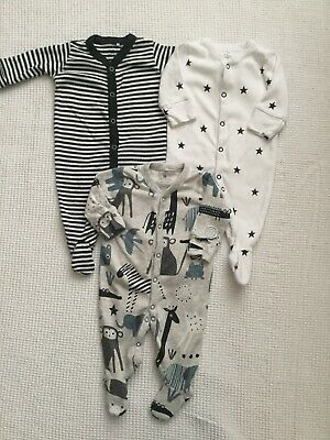 Next Baby Boys Babygrows Sleepsuits Up To 1 Month Bundle Combined Postage
