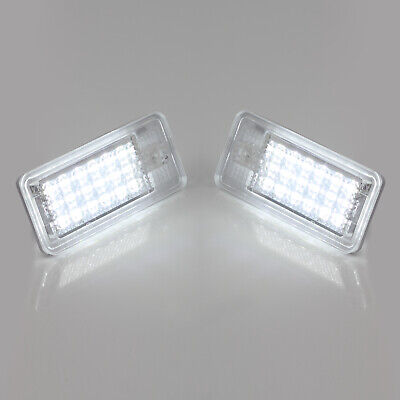2x 18LED Number License Plate Light Lamp 5050SMD For Audi A3 S3 A4 A6 B6 B7 Q7
