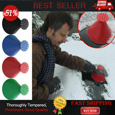 Magical Car Windshield Ice Snow Remover Scraper Cone Shaped Round Funnel Tool UK