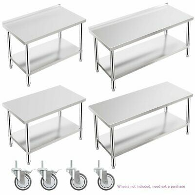 Tribesigns Stainless Steel Commercial Catering Table Work Bench Kitchen Worktop