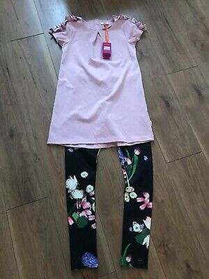 Beautiful Girls Ted Baker Top And Leggings Set Size 13-14 Years Bnwts 👌