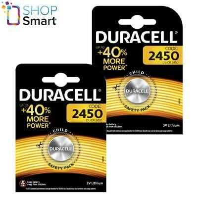 2 Duracell Cr2450 Lithium Batteries 3V Coin Cell Dl2430 Br2430 Exp 2027 New