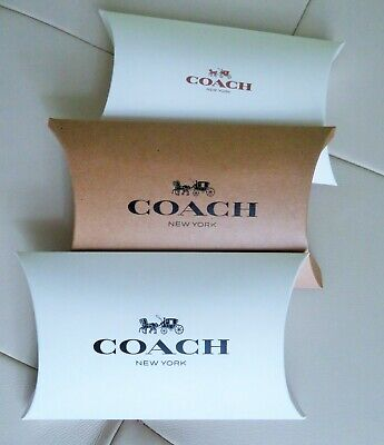 Authentic Coach Gift Box Pillow Brown 6.5 X 5 X 1.75 New