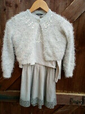 Zara Girls Party Outfit Size 6,age 6-7 and George cardigan,  Lovely