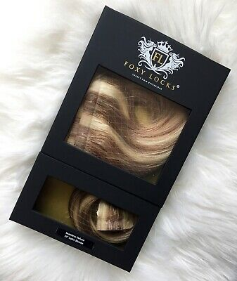"Foxy Locks Genuine Seamless 20"" Hair Extensions -  Tonal Blonde"