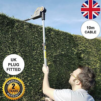 Corded Pole Garden Telescopic Hedge Trimmer Cutter Long Reach 400W 440mm Blade