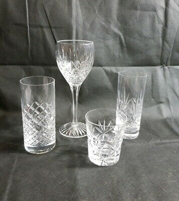 Beautiful 4 Quality Crystal Wine, Water and Whiskey Glasses