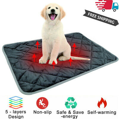 US Pet Thermal Mat - Self Warming Heating Hot Pad for Pets For Cat Dog Bed