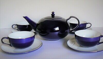 Teavana Tea Set, Royal Sapphire Blue Teapot and Cups