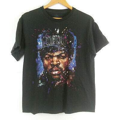 straight outta compton rapper ice cube graphic t-shirt urban hiphop Large L mens