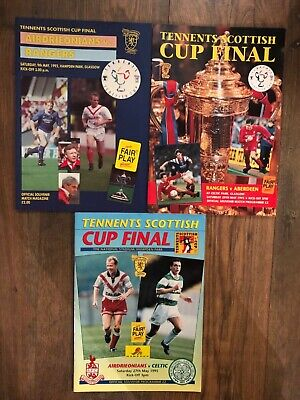 Scottish Cup Final Programmes - 1976-1998
