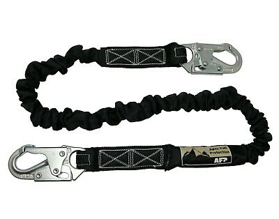 AFP New Fall Protection Safety Lanyard 6' Internal Shock-Absorbing w/ Snap Hook