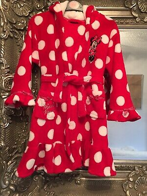 Minnie Mouse Dressing Gown Age 4-5