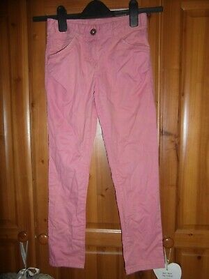 Next girls baby pink cotton skinny trousers Age 9 years