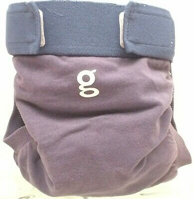 "Gdiapers Medium Blue ""Navy"" Gpants & Pouch Euc"