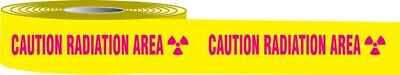 "Accuform MPT33 Plastic Barricade Tape: Caution Radiation Area, 3"" X 1000', New"