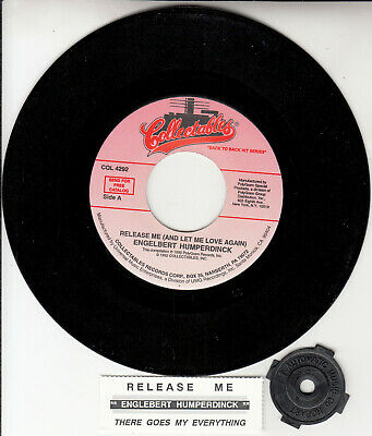 """ENGELBERT HUMPERDINCK Release Me & There Goes My Everything 7"""" 45 rpm record NEW"""