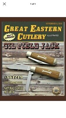 Great Eastern Cutlery 86 Tidioute Oil Field Jack Natural Canvas Micarta New GEC