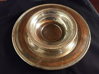 Silver plated lunch plate and bowl