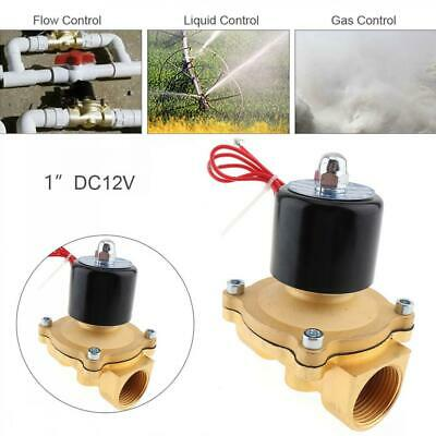 1'' DC 12V Normally Closed Aluminum Alloy Water Oil Gas Electric Solenoid Valve
