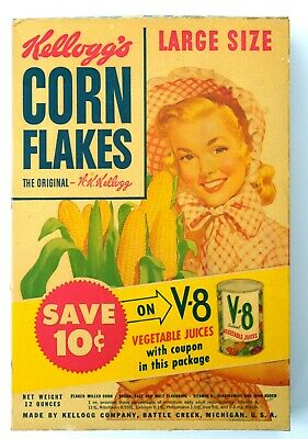 1952 Vintage KELLOGG'S CORN FLAKES Package. Never used. Very Rare.