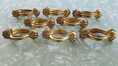 """Antique Brass Clam Shell Curtain Claw Clips - 8 Clips 1.75"""""""