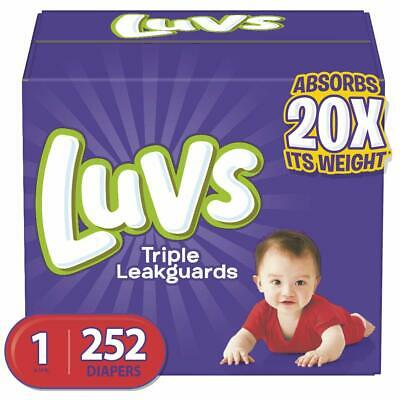 Luvs Ultra Leakguards Disposable Baby Diapers Newborn Size 1, 252Count ONE MONTH