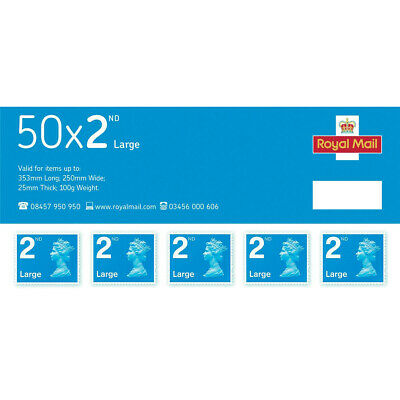 Royal Mail Second Class Large Letter Stamps [Pack 50]