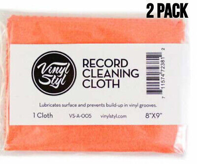 Vinyl Styl Lubricated Record Cleaning Cloth 8x9 (2 Pack) LP Accessory Ships Free