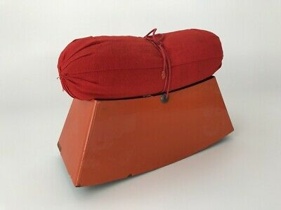 Japanese Antique Pillow Wooden Stand Lacquer Ware Red Color Cushion g291