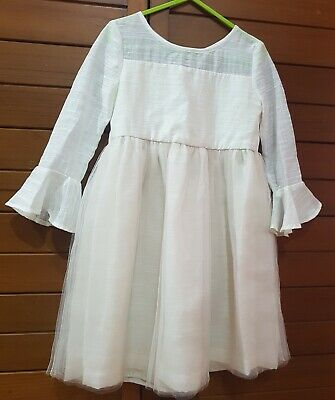 Girls Dress, wedding, flower girl,  Size 4, Long Sleeves