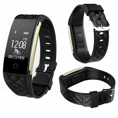 Smart Bracelet Watch Heart Rate Monitor Watch Pedometer Tracker S2 Black