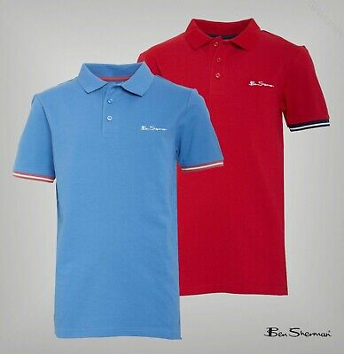 Boys Ben Sherman Cotton Short Sleeve Pique Polo Top Sizes Age from 7 to 15 Yrs