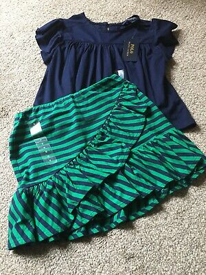 Girls Age 6 Genuine Designer Ralph Lauren Skirt And Blouse