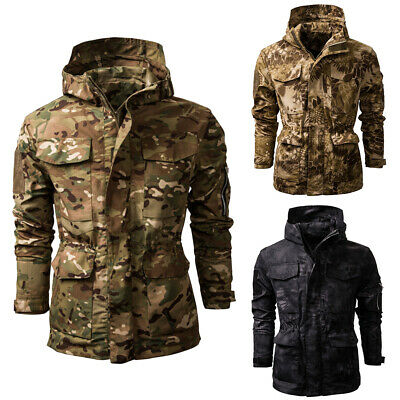 Mens Waterproof Winter Coat Outdoor Camouflage Jacket Soft Shell Military Jacket