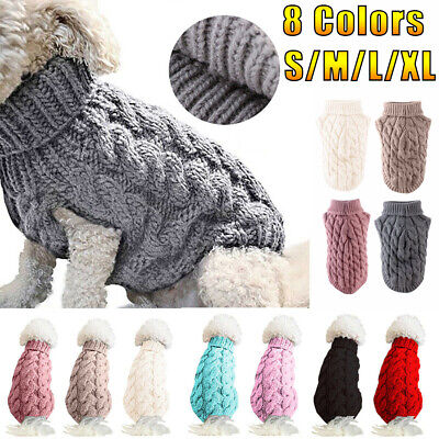 Winter Small Dog Knitted Jumper Knitwear Chihuahua Clothes Pet Cat Puppy Sweater