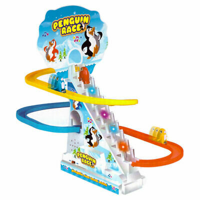Penguin Run Race Musical Light Up Children's Toy Kids Game Gift Girls Boys NEW