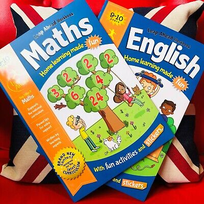 Leap Ahead Maths & English Workbooks for 9-10 Years (Paperback 2018) *NEW*